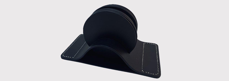 Glasbrikholder i læder