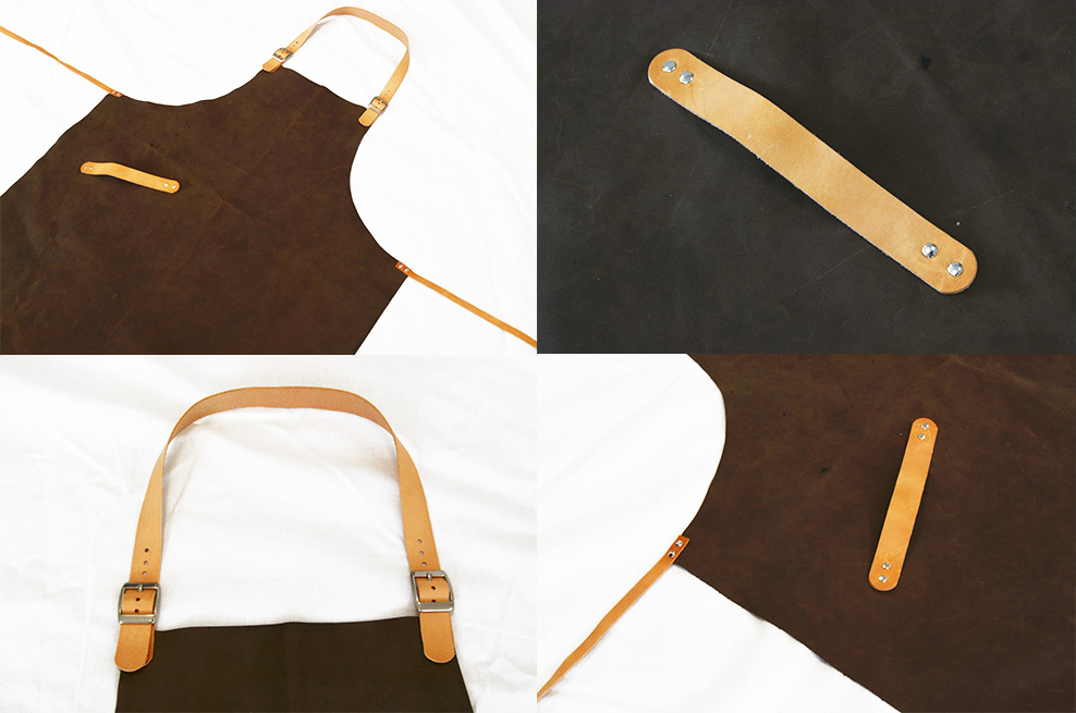 Færdigt læderforklæde