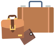 Låse og tilbehør til tasker, punge og kufferter