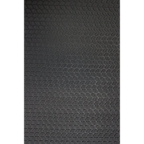 Gummiplade dækmønster 4 mm.
