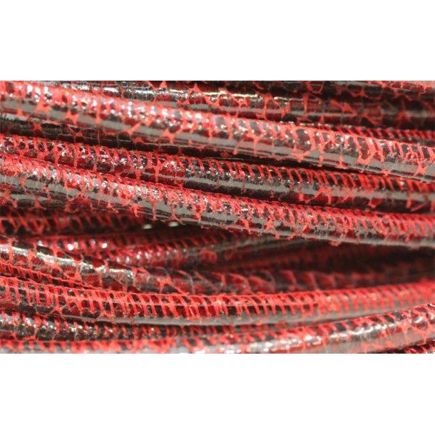Syet skindsnøre slange print tilbud